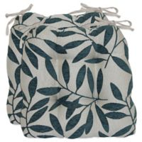 Waterfall Tree Chair Pads in Caribbean Blue (Set of 2)