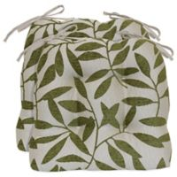 Waterfall Tree Chair Pads in Lime (Set of 2)
