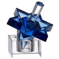 Star of David Hanukkah Blue Crystal Dreidel