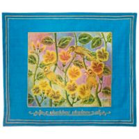 Batik Songbird Motif English Challah Cover in Turquoise