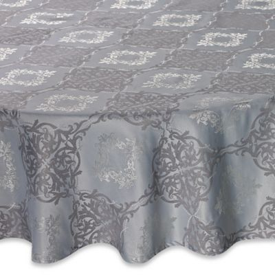 Waterford® Linens Valentina 90 Inch Round Tablecloth In Sky Blue