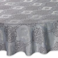 Waterford Linens Valentina 90 Inch Round Tablecloth In Sky Blue