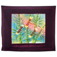 Batik Dragonfly Motif English Challah Cover in Maroon