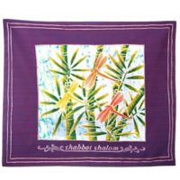 Batik Dragonfly Motif English Challah Cover in Purple
