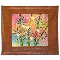 Batik Dragonfly Motif English Challah Cover in Rust