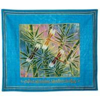 Batik Dragonfly Motif English Challah Cover in Turquoise