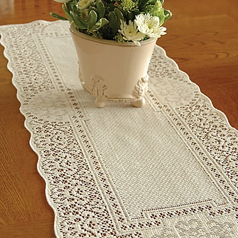 Heritage Lace 174 Canterbury Classic Table Runner Bed Bath