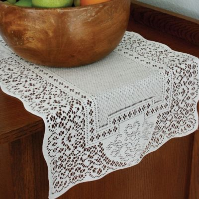 Heritage Lace® Canterbury Classic 36 Inch Table Runner In White