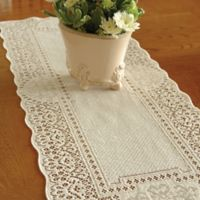 Heritage Lace® Canterbury Classic 72-Inch Table Runner in Ecru