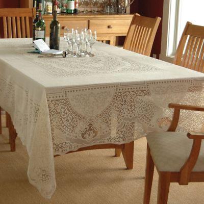 Heritage Lace® Canterbury 70 Inch X 126 Inch Tablecloth In Ecru
