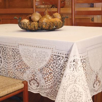 Exceptionnel Heritage Lace® Canterbury 70 Inch X 90 Inch Tablecloth In Ecru