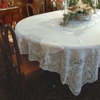 Heritage Lace® Canterbury 70-Inch 90-Inch Tablecloth in White