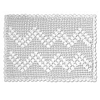 Heritage Lace® Blue Ribbon Crochet Placemat in White