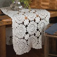 Heritage Lace® Blue Ribbon Crochet 54-Inch Table Runner in Cream