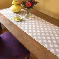 Heritage Lace® Polka Dot 96-Inch Table Runner in White