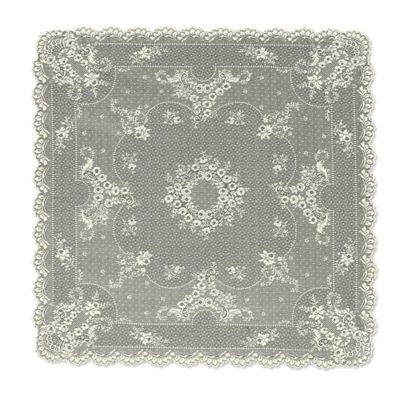 Heritage Lace Floret 36 Inch Table Topper In Ecru