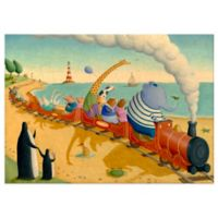 Oopsy Daisy Seaside Train Ride Canvas Wall Art