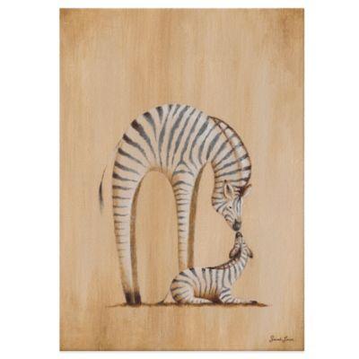 oopsy daisy safari kisses zebra canvas wall art - Decorative Picture Hangers
