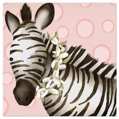 Oopsy Daisy Zoey The Zebra Canvas Wall Art
