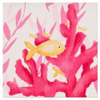 Oopsy Daisy Pink Coral and Little Fish Canvas Wall Art