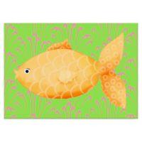 Oopsy Daisy Mia the Fish Canvas Wall Art in Yellow/Orange