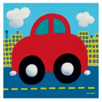 Oopsy Daisy Red Car Canvas Wall Art