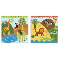 Oopsy Daisy Too Jungle Friends 2-Piece Canvas Wall Art