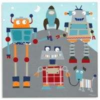 Oopsy Daisy Too Robot Friends Canvas Wall Art