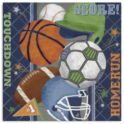 Wall Decor U003e Oopsy Daisy Too Sports Score! Canvas Wall Art