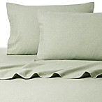 Belle Epoque La Rochelle Collection Sol Heathered Flannel Queen Sheet Set in Sage