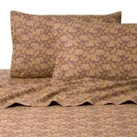 Belle Epoque La Rochelle Collection Pais Heathered Flannel Twin Sheet Set in Brown