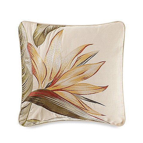 Tommy Bahama 174 Birds Of Paradise Square Throw Pillow Bed