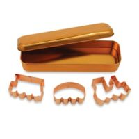 3-Piece Copper Plated Train Cookie Cutter Set