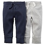 Carter's® Size 6M 2-Pack Cuffed Pant in in Navy/Grey