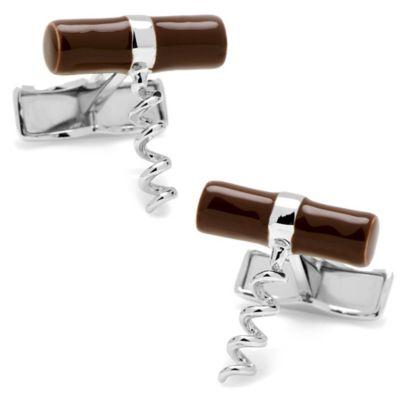 Sterling Silver Corkscrew Cufflinks