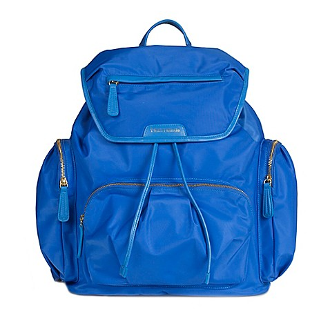 twelvelittle allure backpack diaper bag in sapphire bed. Black Bedroom Furniture Sets. Home Design Ideas