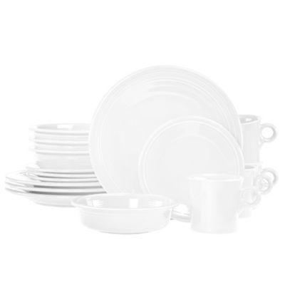 Fiesta® 16-Piece Dinnerware Set in White  sc 1 st  Bed Bath u0026 Beyond & Buy Fiesta Dinnerware Sets from Bed Bath u0026 Beyond