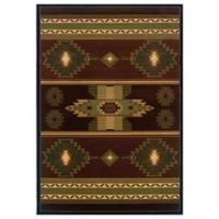 United Weavers Native Canvas 2-Foot 7-Inch x 4-Foot 2-Inch Area Rug in Toffee