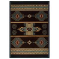 United Weavers Native Canvas 2-Foot 7-Inch x 4-Foot 2-Inch Area Rug in Blue