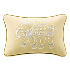 INK+IVY Zahira Embroidered Oblong Throw Pillow in Yellow