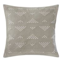 INK+IVY Cairo Embroidered Square Throw Pillow in Taupe