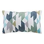 INK+IVY Konya Embroidered Oblong Throw Pillow in Blue