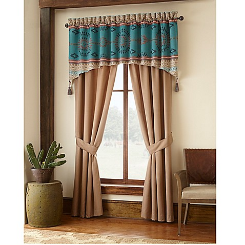 Painted Desert Window Curtain Panel Pair And Valance Bed