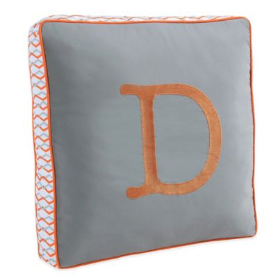 Letter Square Throw Pillow in Grey from Buy Buy Baby