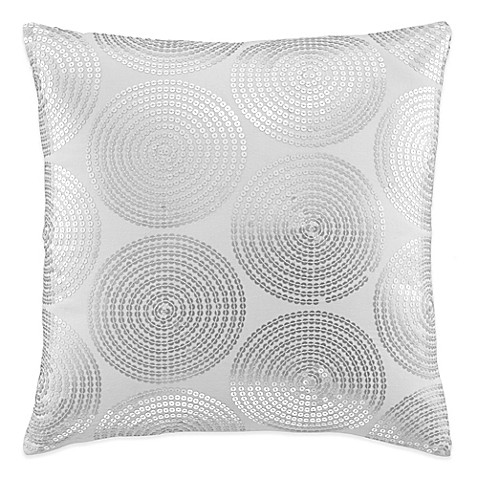 Throw Pillows One Kings Lane : kate spade new york Confetti Square Throw Pillow in Silver - Bed Bath & Beyond