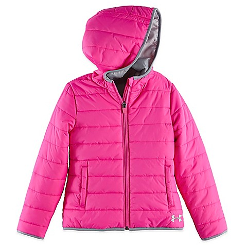 Under Armour 174 Puffer Jacket In Pink Grey Buybuy Baby