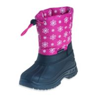 Josmo Shoes Size 6 Rugged Bear with Flower Print Snow Boot in Pink/Black