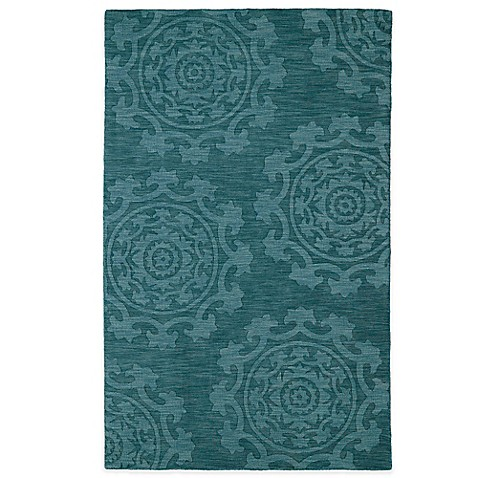 Kaleen Imprints Classic Rug In Chocolate Turquoise Light