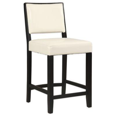 zoe 24inch counter stool in white vinyl