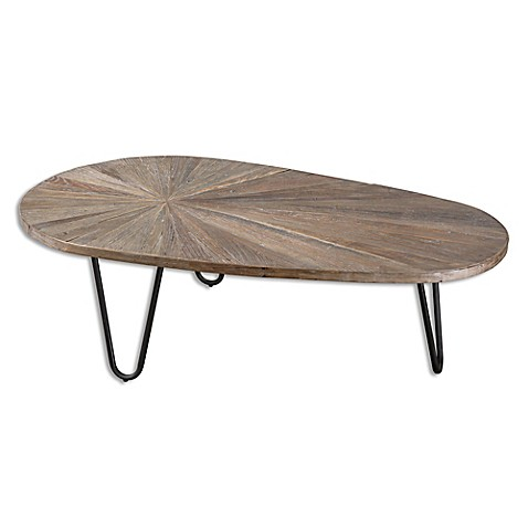 image of Uttermost Leveni Wooden Coffee Table in Weathered Grey